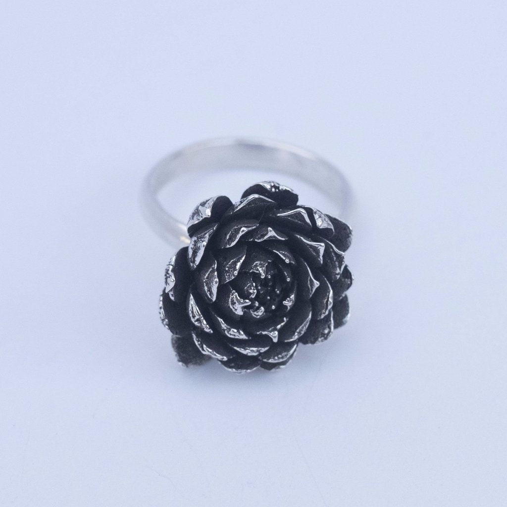 OOAK Succulent Ring - Size 5.5