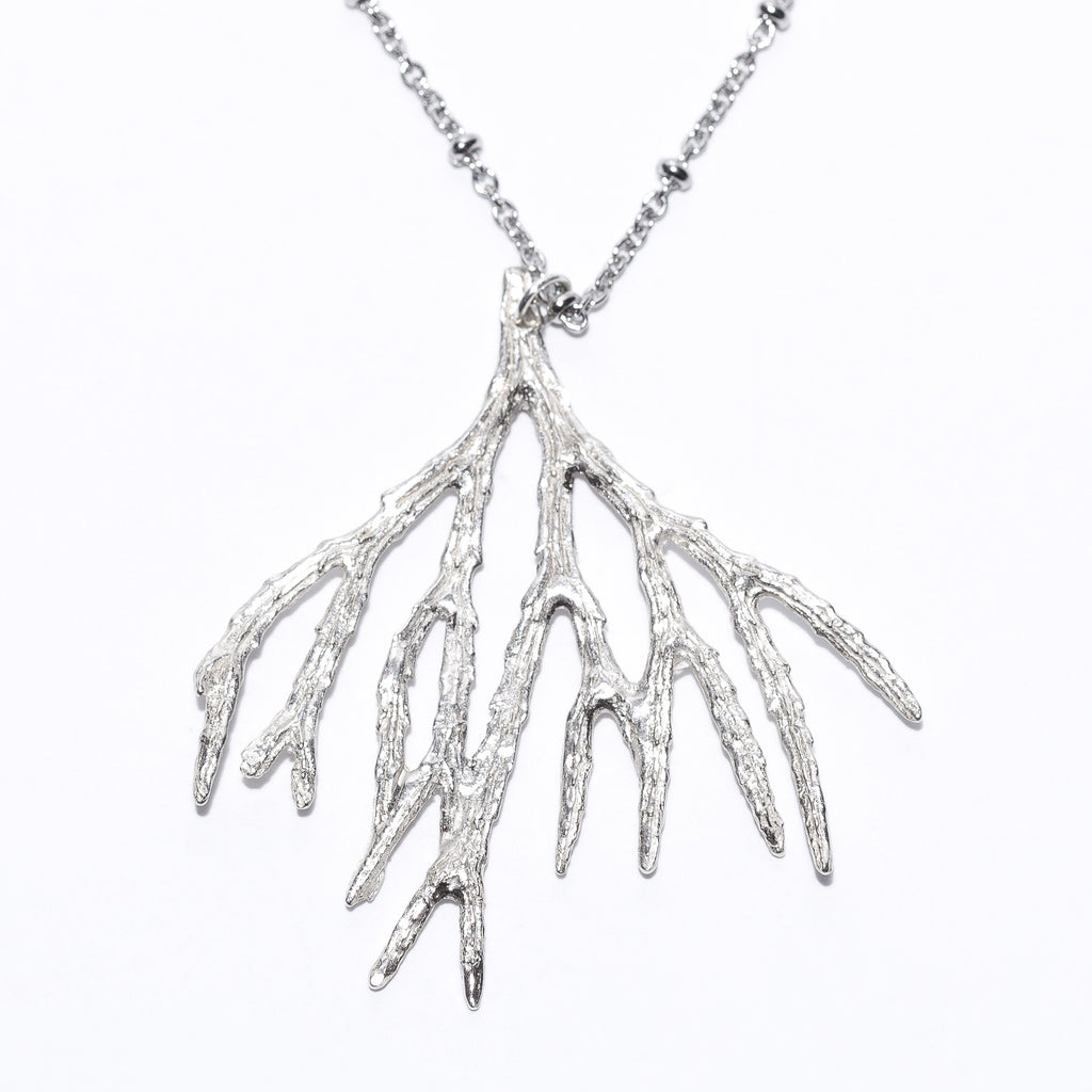 Evergreen Necklace, sterling silver