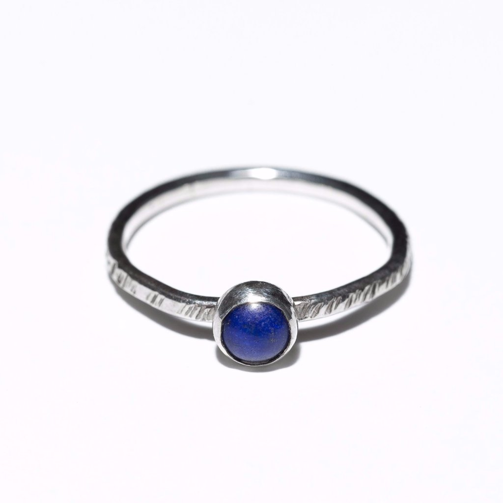 Lapis Lazuli Stacking Ring, sterling silver