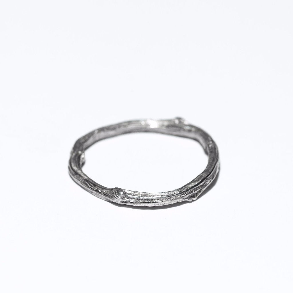 Woodlands Ring, oxidized, sterling silver