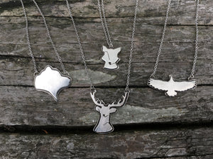 Fauna of the PNW, Fox, sterling silver