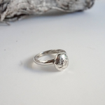 Moon Stacking Ring, sterling silver, minimalist