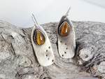 Tiger Eye Earrings, sterling silver, one of a kind