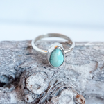 Mexican Turquoise Silver Ring, size 9.5
