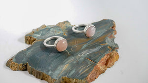 Blossom Statement Ring, Pink Moonstone, sterling silver