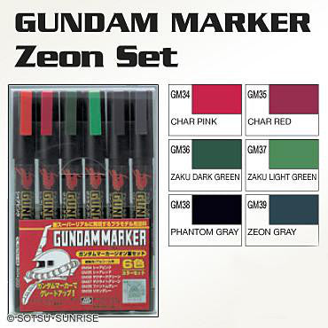 [Members] GSI CREOS Gundam Marker - ZEON 6 Color Set - GMS108