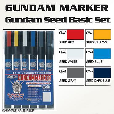 [Members] GSI CREOS Gundam Marker - SEED 6 Color Set - GMS109