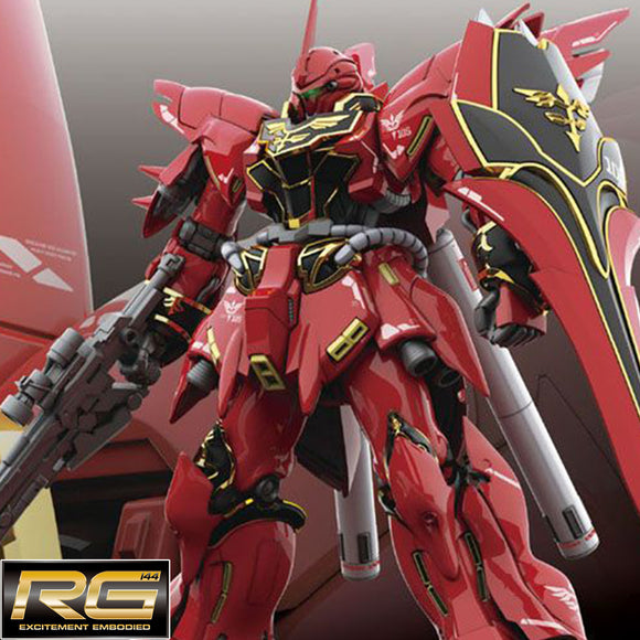 [MSN-06S] 𝐒𝐢𝐧𝐚𝐧𝐣𝐮 (RG) 1/144 Scale Bandai Model Kit [Members]