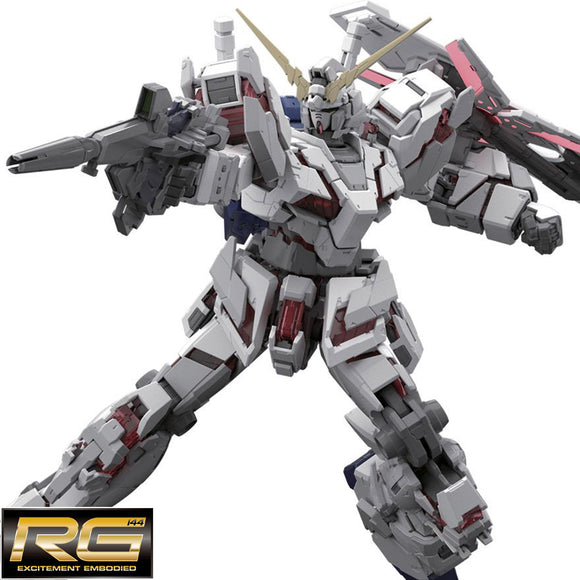 [RX-0] 𝐔𝐧𝐢𝐜𝐨𝐫𝐧 𝐆𝐮𝐧𝐝𝐚𝐦 (RG) 1/144 Scale Bandai Model Kit [Members]