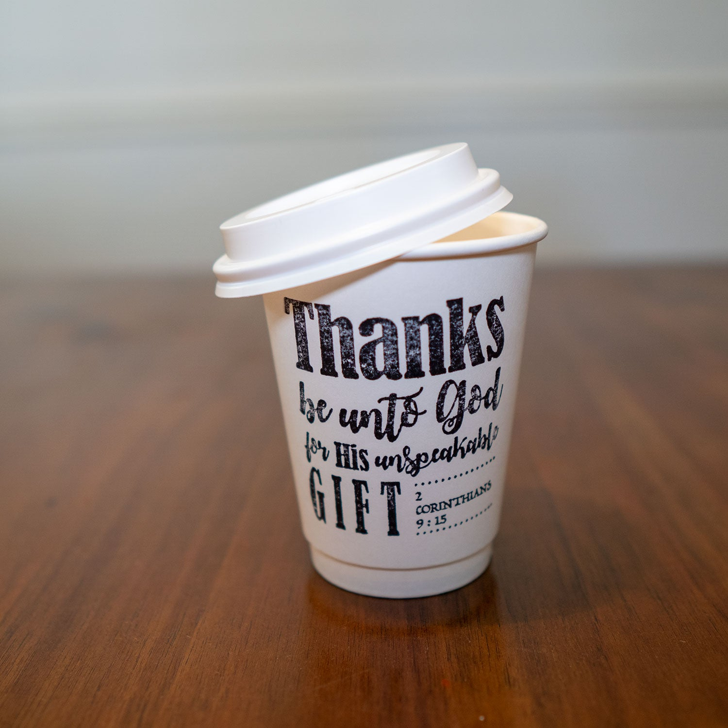 2 Corinthians 9:15 Stamped Insulated Paper Cup