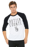 Autism Counts Baseball Tee