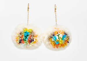 Zero Waste Pom Pom Earrings