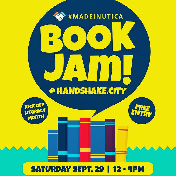 Handshake.City Book Jam + Meatball Sunday Funday