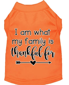 I Am What My Family is Thankful For Screen Print Shirt - YourStarPet