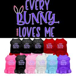 Every Bunny Loves me Screen Print Dog Dress - Your Star Pet