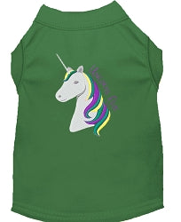 Unicorns Rock Embroidered Dog Shirt - YourStarPet