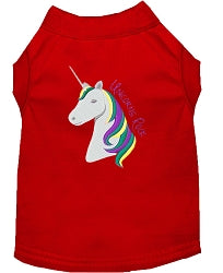 Unicorns Rock Embroidered Dog Shirt - Your Star Pet