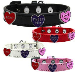 Conversation Hearts Widget Collars - Your Star Pet