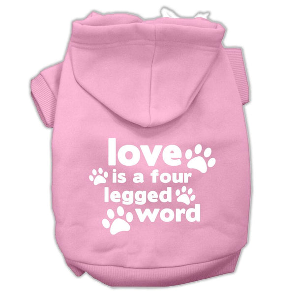 Love is a Four Legged Word Pet Hoodie - Your Star Pet