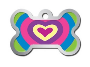 Polished Lenticular Heart Large Bone Shape ID Tag - YourStarPet