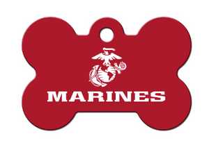 Marines Bone ID Tag - YourStarPet