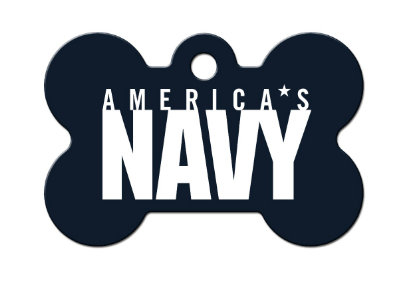 US Navy Bone ID Tag - YourStarPet