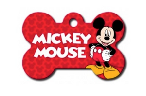 Mickey Mouse Bone ID Tag - Your Star Pet