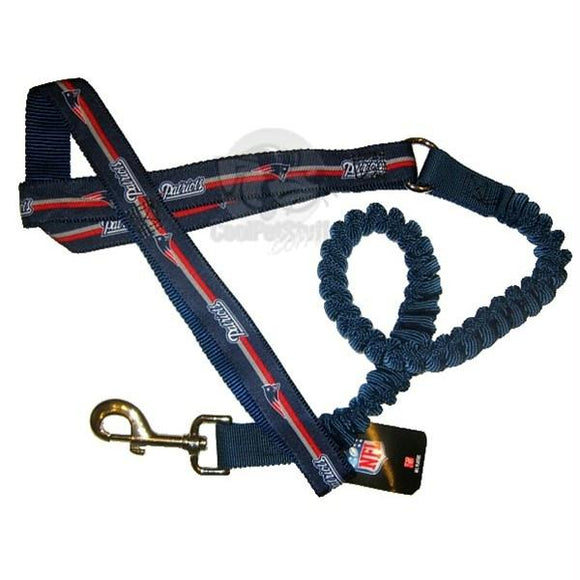 New England Patriots Bungee Ribbon Pet Leash - YourStarPet