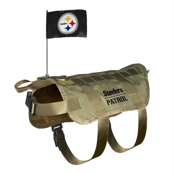 Pittsburgh Steelers Pet Tactical Vest - YourStarPet