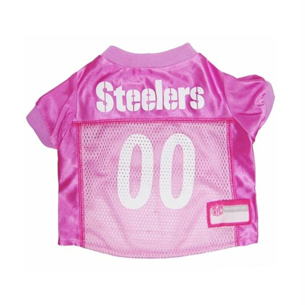 Pittsburgh Steelers Pink Dog Jersey - YourStarPet