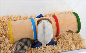 Wooden Colorful Seesaw Hamster Tunnel - Your Star Pet
