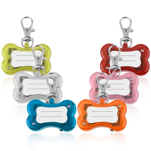 Pet LED Bone Identification Safety Pendant With Collar Circular Clip for Dog/Cat - Your Star Pet
