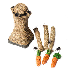 Carrot tree scratching post