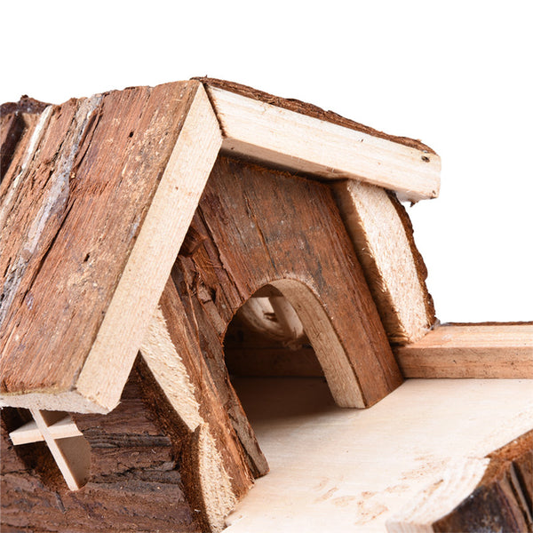 Two-story Wooden House for Small Pets - YourStarPet