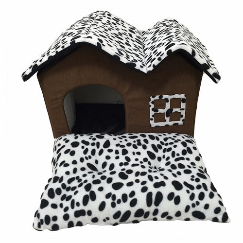 Dog/Cat House Animal Print Bed