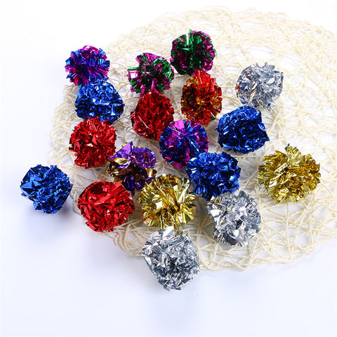 Crinkle Ball Toy for Cat/Kitten 12pcs - Your Star Pet