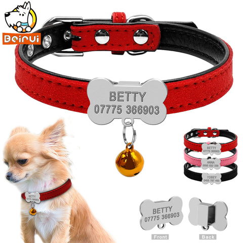 Personalized Dog/Cat Collar w/Bell Charm
