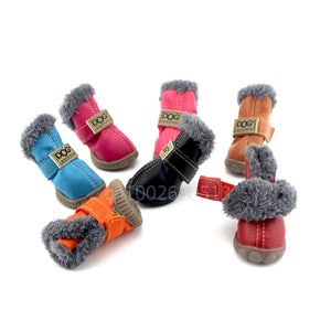 4Pcs/Set Waterproof Pet Snow Boots - Your Star Pet