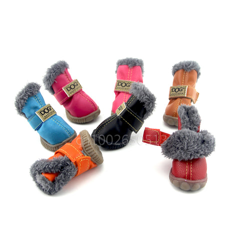 4Pcs/Set Waterproof Pet Snow Boots - YourStarPet