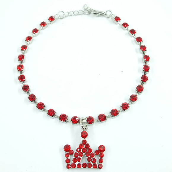 Fashion Rhinestone Pet Necklace With Crown - Your Star Pet