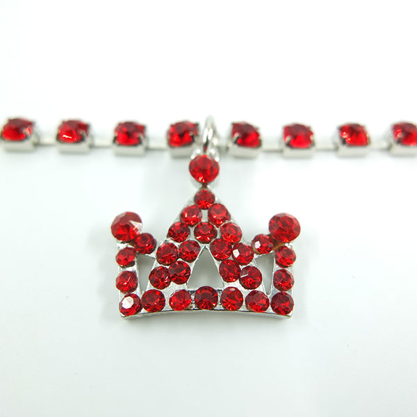 Fashion Rhinestone Pet Necklace With Crown - YourStarPet