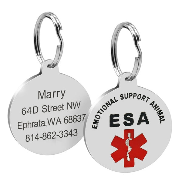 Emotional Support Animal Pet ID Tag - YourStarPet