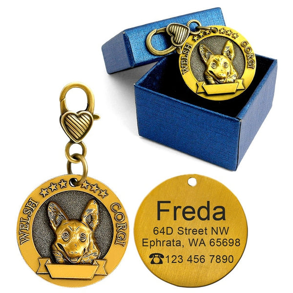 Personalized Dog ID Tag With Breed (18 Styles) - YourStarPet