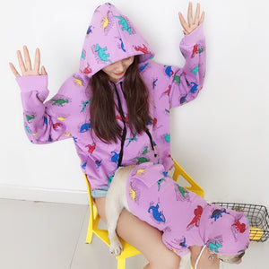 Luxury Matching Pet/Parent Dinosaur Hoodie