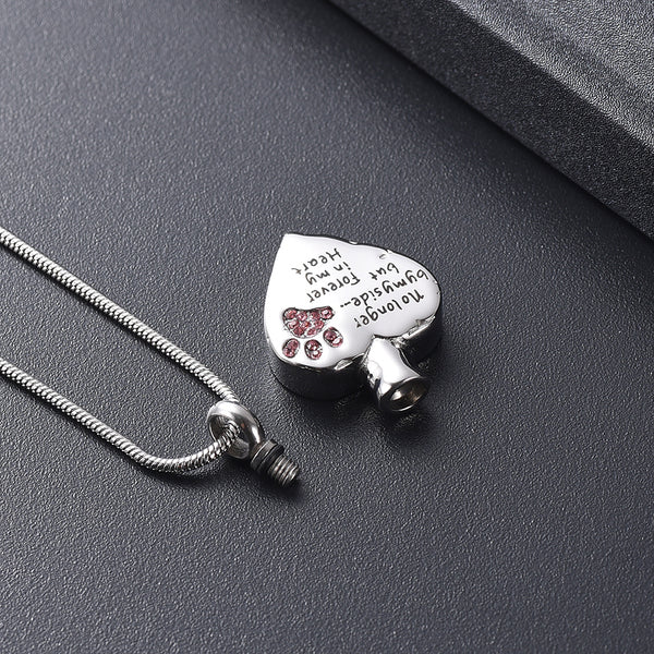 Stainless Steel Heart Shaped Urn Necklace (Unisex)
