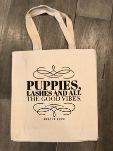 Puppies & Good Vibes Tote