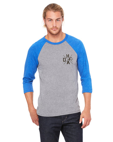 Triblend 3/4 Sleeve Raglan - Royal