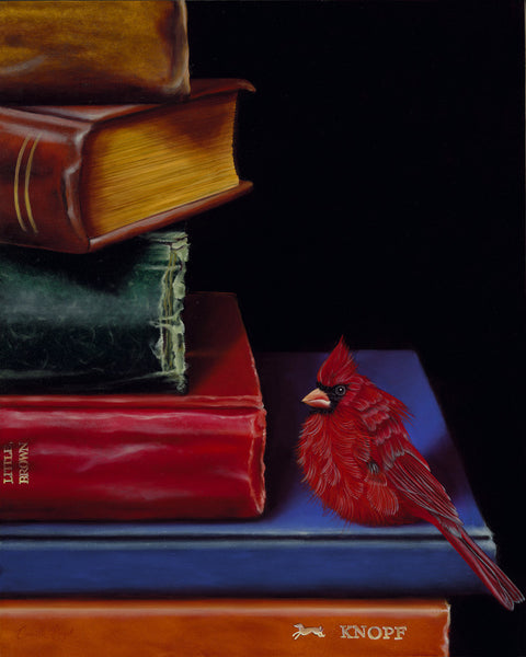 "183 • ""Fine Feathered Footnotes"" (Literary Roost Series) Fine Art Canvas"