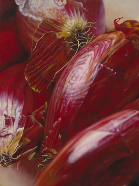 "134 • ""Red Onions"" Fine Art Canvas"
