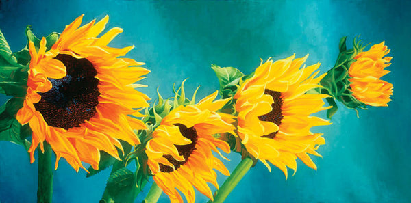 "007 • ""Dance of the Sunflowers"" Fine Art Canvas"